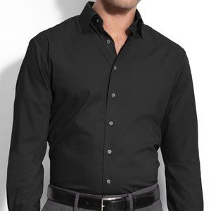 Thomas Pink Super Slim Black Button Down Size 16.5